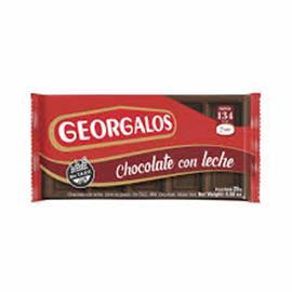 CHOCOLATE GEORGALOS LECHE 25G X 24 U