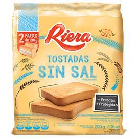 TOSTADAS RIERA CLASICA SIN SAL 200G