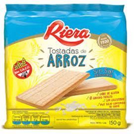 TOSTADAS RIERA DE ARROZ SIN SAL 150G
