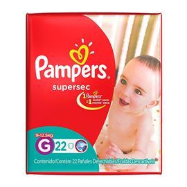 PAÑALES PAMPERS SUPERSEC G 22U