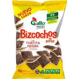 GALLO BIZCOCHOZ DE ARROZ NEGRITO 50G
