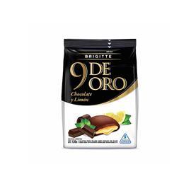 9 DE ORO CHOCOLATE RELLENO LIMON 120g