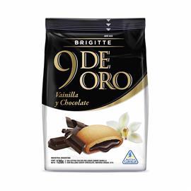 9 DE ORO VAINILLA RELLENO CHOCOLATE 120g